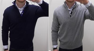 Left: Small.  Right: Medium.