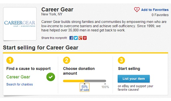 Career Gear ebay 1 2 3 steps