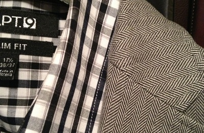 Checks = square.  And a bit bigger than the herringbone.  This works.