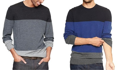 GAP colorblock merino