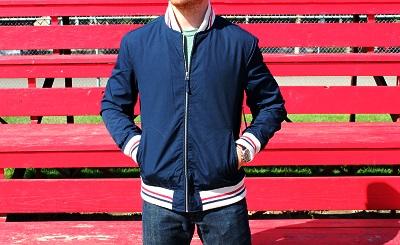 jcp varsity light jacket