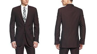 bar III burgundy suit