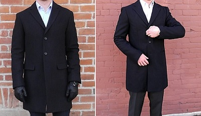 slighty fitted topcoats