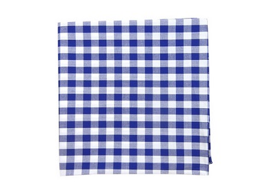royal blue gingham pocket square by thetiebar on Dappered.com