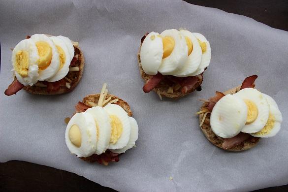 Make It For Your Date - Bacon, Egg, & Cheese Toasts assembly on Dappered
