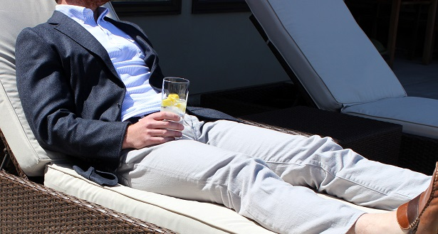 Lounging in the Joseph Abboud Soft Construction Blazer on Dappered.com